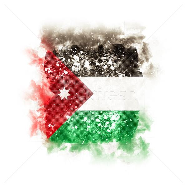 Placu grunge banderą Jordania 3d ilustracji retro Zdjęcia stock © MikhailMishchenko