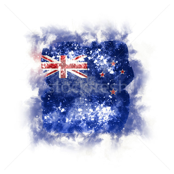 Vierkante grunge vlag New Zealand 3d illustration retro Stockfoto © MikhailMishchenko