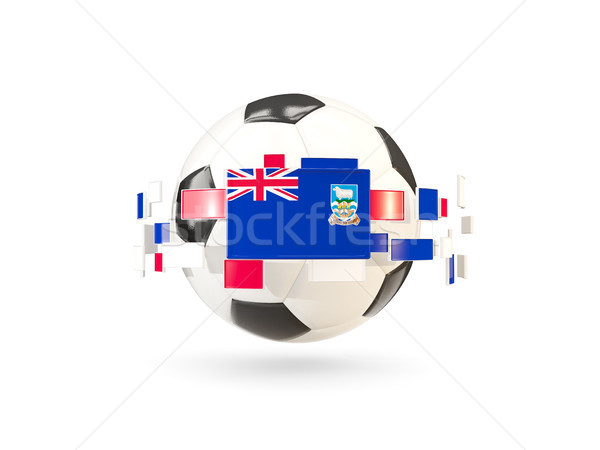 Soccer ball with line of flags. Flag of falkland islands Stock photo © MikhailMishchenko