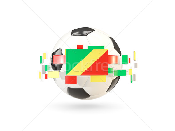 Soccer ball with line of flags. Flag of republic of the congo Stock photo © MikhailMishchenko