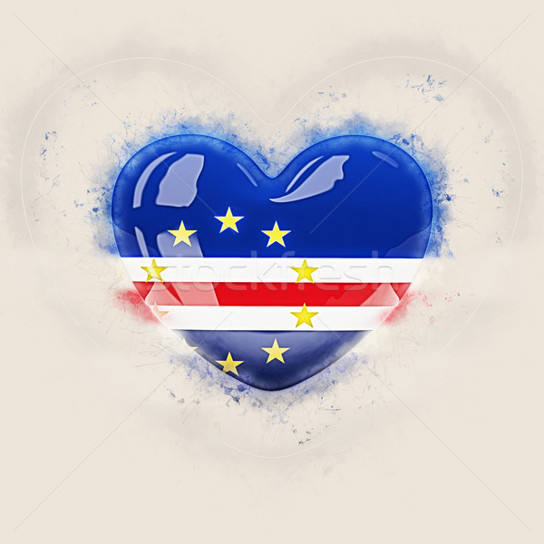 Heart with flag of cape verde Stock photo © MikhailMishchenko