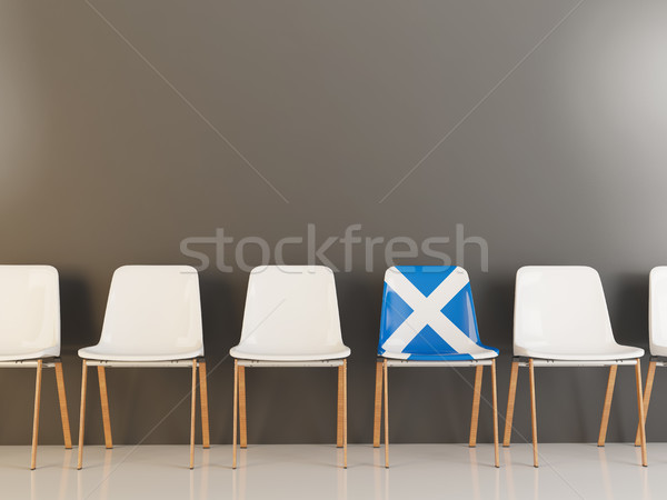 Chair with flag of scotland Stock photo © MikhailMishchenko