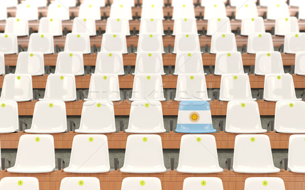 Stadium seat with flag of argentina Stock photo © MikhailMishchenko