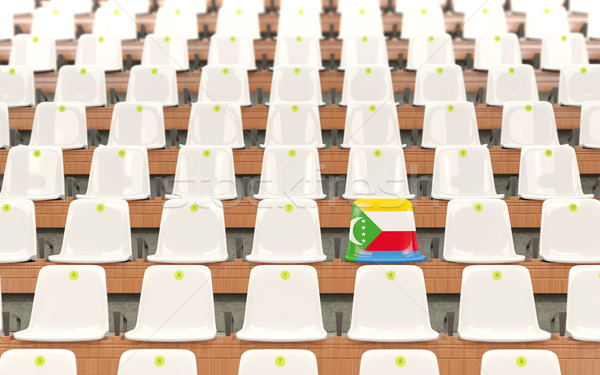 Stadium seat with flag of comoros Stock photo © MikhailMishchenko