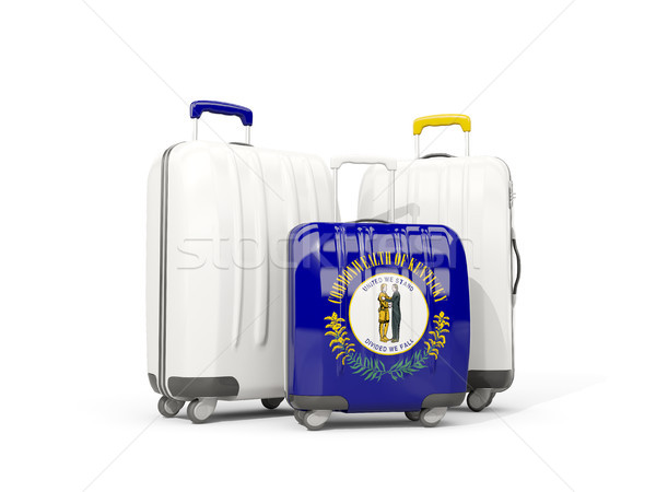 Luggage with flag of kentucky. Three bags with united states loc Stock photo © MikhailMishchenko