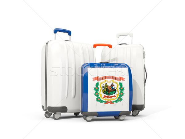Bagages pavillon Virginie-Occidentale trois sacs États-Unis Photo stock © MikhailMishchenko