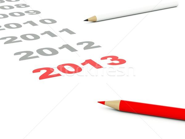 2013 segno matite isolato bianco pen Foto d'archivio © MikhailMishchenko