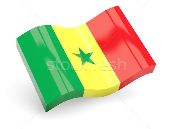 3D bandiera Senegal isolato bianco viaggio Foto d'archivio © MikhailMishchenko