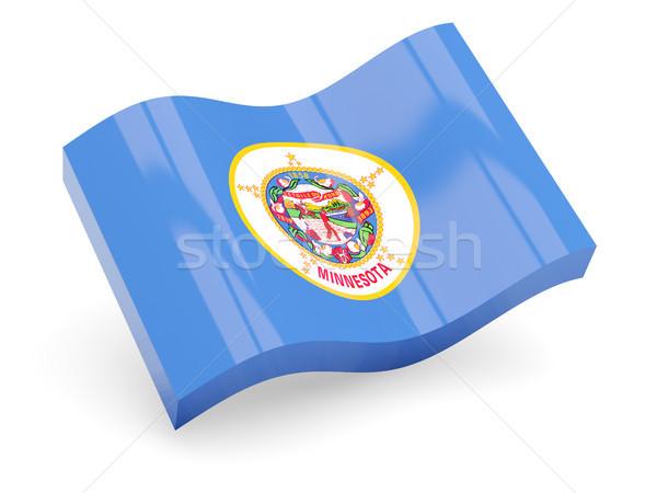 Hullámos ikon Minnesota zászló Stock fotó © MikhailMishchenko