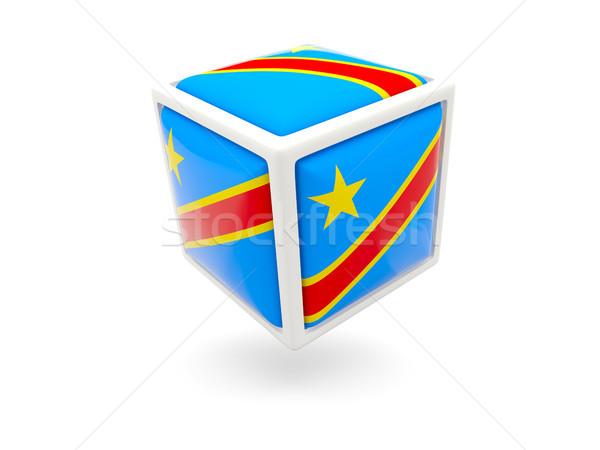 Bayrak demokratik cumhuriyet Kongo küp ikon Stok fotoğraf © MikhailMishchenko
