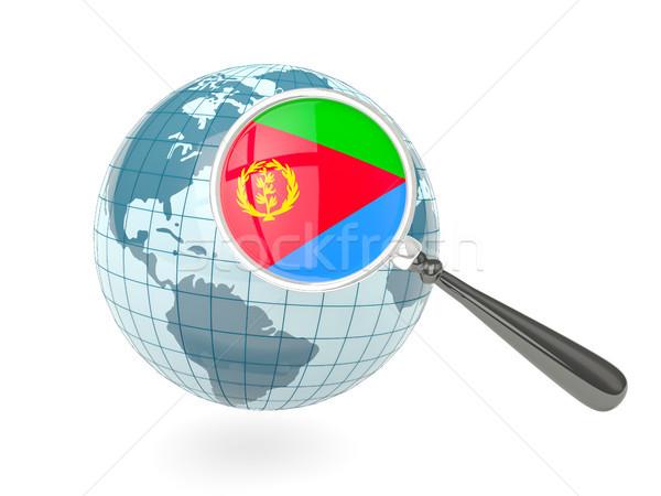 флаг Эритрея синий мира изолированный Сток-фото © MikhailMishchenko