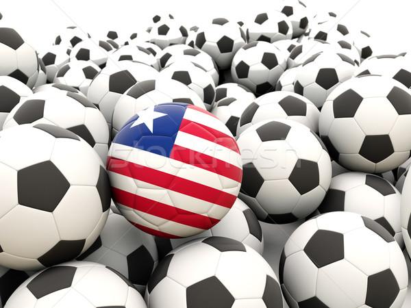 Futebol bandeira Libéria regular verão Foto stock © MikhailMishchenko