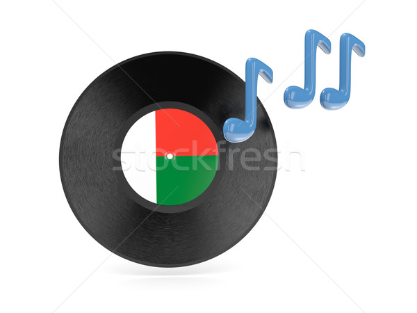Vinyl disk with flag of madagascar Stock photo © MikhailMishchenko