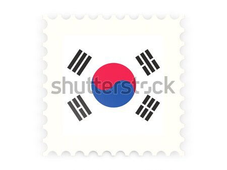 Postage stamp icon of south korea Stock photo © MikhailMishchenko