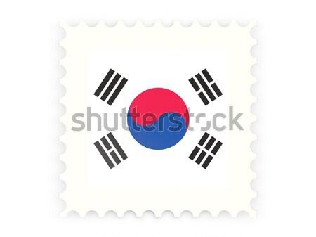Ikon Güney Kore yalıtılmış beyaz posta Stok fotoğraf © MikhailMishchenko