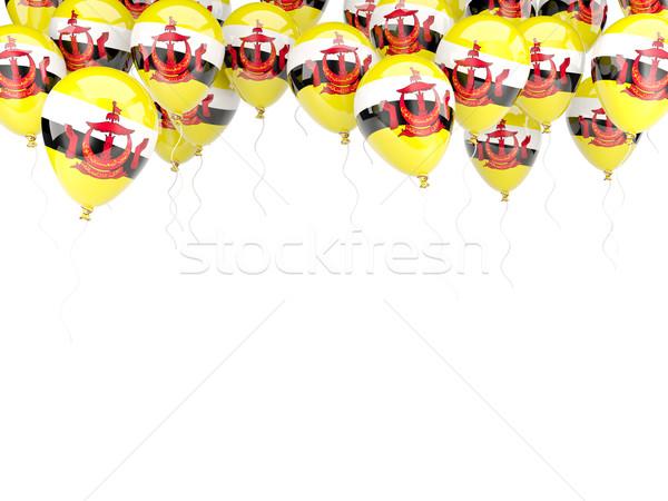 Ballon frame vlag Brunei geïsoleerd witte Stockfoto © MikhailMishchenko