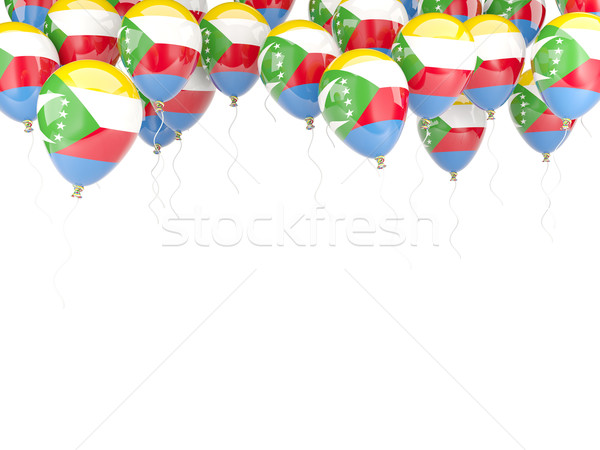 Balloon frame with flag of comoros Stock photo © MikhailMishchenko