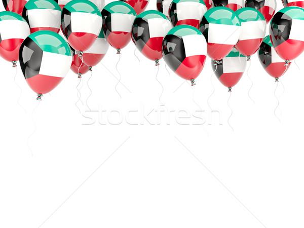 Pallone frame bandiera Kuwait isolato bianco Foto d'archivio © MikhailMishchenko