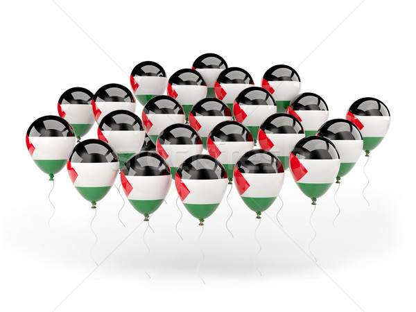 Balloons with flag of palestinian territory Stock photo © MikhailMishchenko