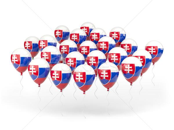 Palloncini bandiera Slovacchia isolato bianco paese Foto d'archivio © MikhailMishchenko
