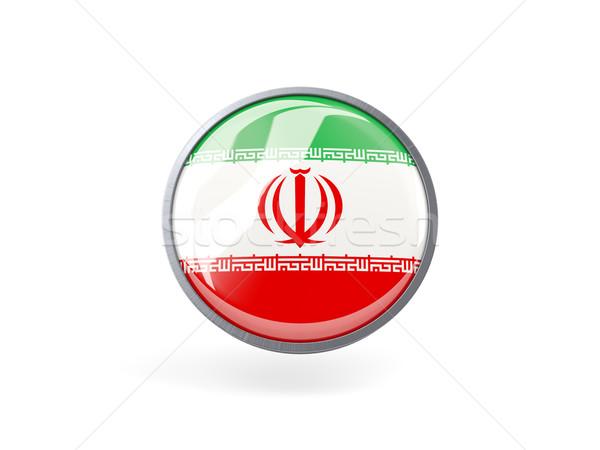 Ikon bayrak İran Metal çerçeve seyahat Stok fotoğraf © MikhailMishchenko