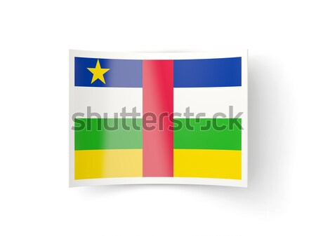 Square metal button with flag of central african republic Stock photo © MikhailMishchenko