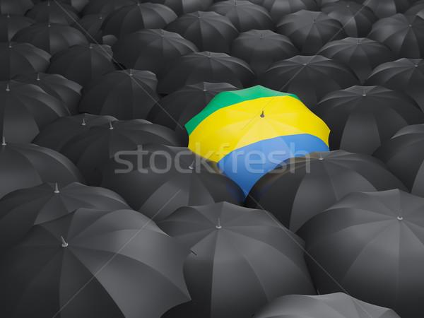 зонтик флаг Габон черный путешествия Сток-фото © MikhailMishchenko