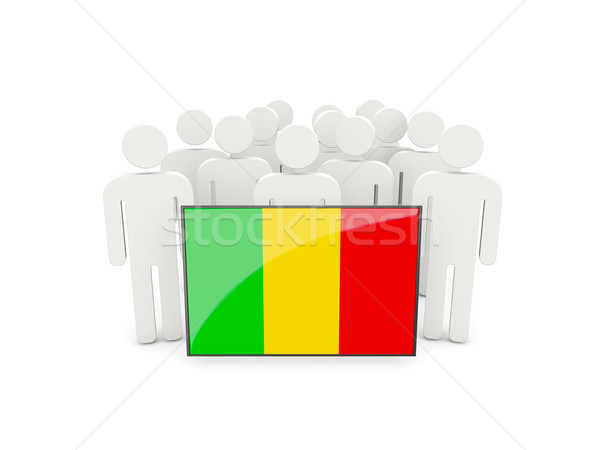 People with flag of mali Stock photo © MikhailMishchenko