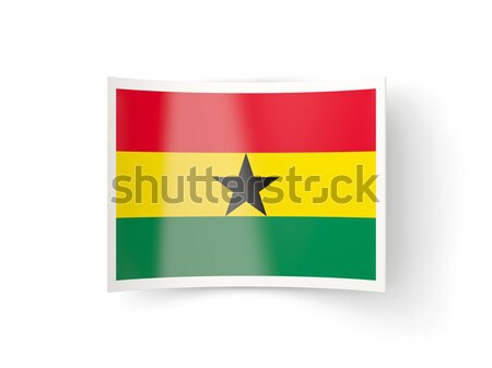 Square sticker with flag of ghana Stock photo © MikhailMishchenko