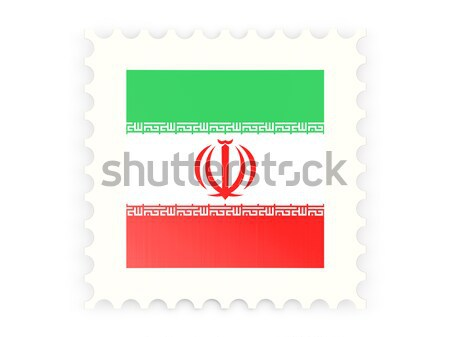 Square sticker with flag of iran Stock photo © MikhailMishchenko