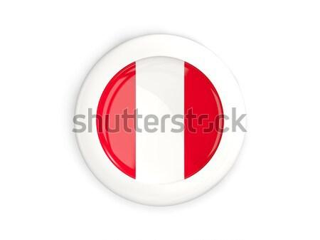 Adesivo bandeira Peru isolado branco viajar Foto stock © MikhailMishchenko
