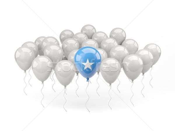 Powietrza balony banderą Somali odizolowany biały Zdjęcia stock © MikhailMishchenko