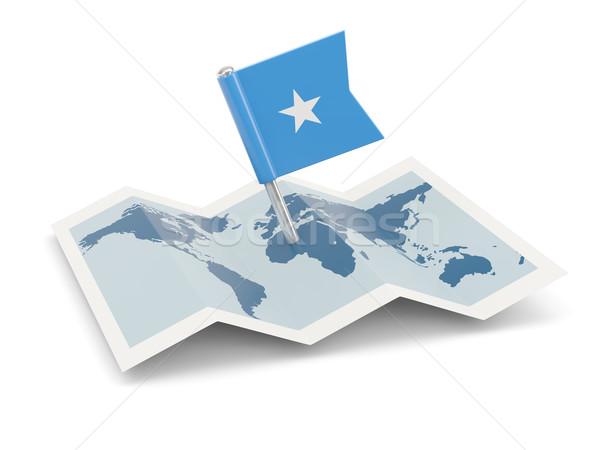Pokaż banderą Somali odizolowany biały Zdjęcia stock © MikhailMishchenko