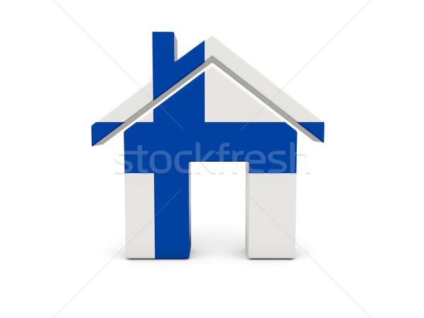 ホーム フラグ フィンランド 孤立した 白 検索 ストックフォト © MikhailMishchenko