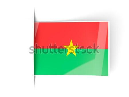 Flag label of burkina faso Stock photo © MikhailMishchenko