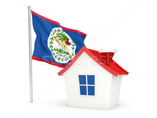Ház zászló Belize izolált fehér Stock fotó © MikhailMishchenko