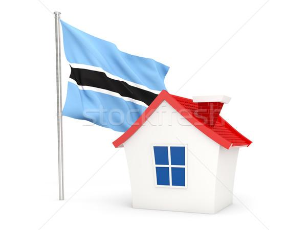 Ev bayrak Botsvana yalıtılmış beyaz ev Stok fotoğraf © MikhailMishchenko