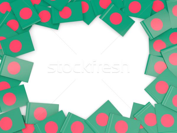 Keret zászló Banglades izolált fehér Stock fotó © MikhailMishchenko