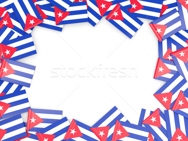Frame bandiera Cuba isolato bianco Foto d'archivio © MikhailMishchenko