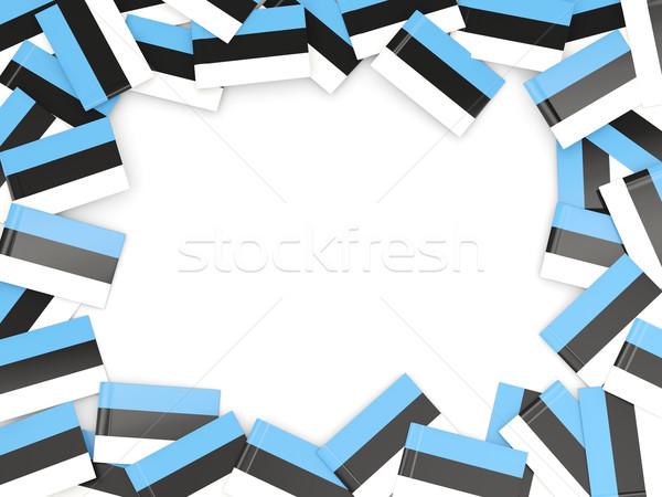 Marco bandera Estonia aislado blanco Foto stock © MikhailMishchenko
