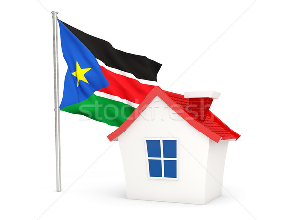 House with flag of south sudan Stock photo © MikhailMishchenko