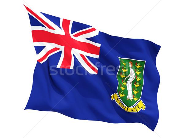 Vlag Virgin Islands brits geïsoleerd witte Stockfoto © MikhailMishchenko