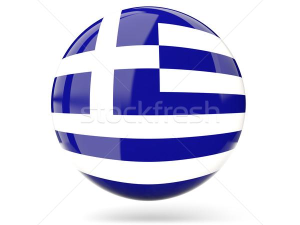 アイコン フラグ ギリシャ にログイン 白 ストックフォト © MikhailMishchenko