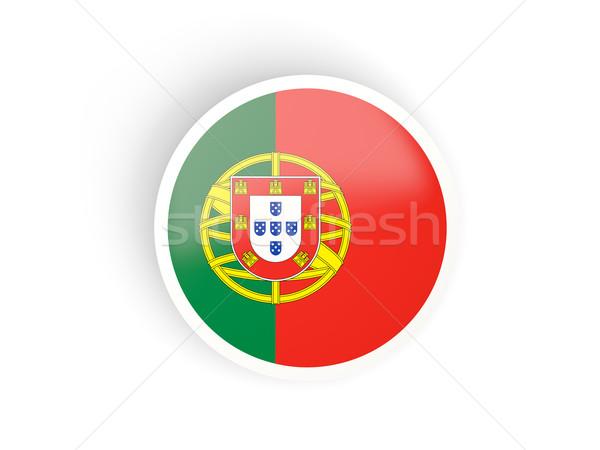 Adesivo bandeira Portugal isolado branco viajar Foto stock © MikhailMishchenko
