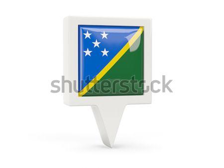 Scudo icona bandiera Isole Salomone isolato bianco Foto d'archivio © MikhailMishchenko