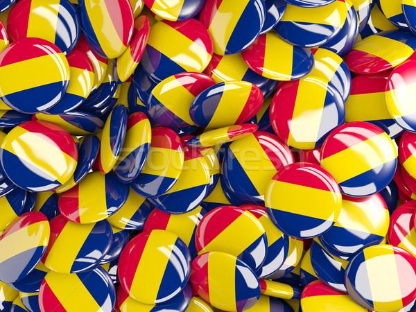 Bandera Chad fondo país pin círculo Foto stock © MikhailMishchenko
