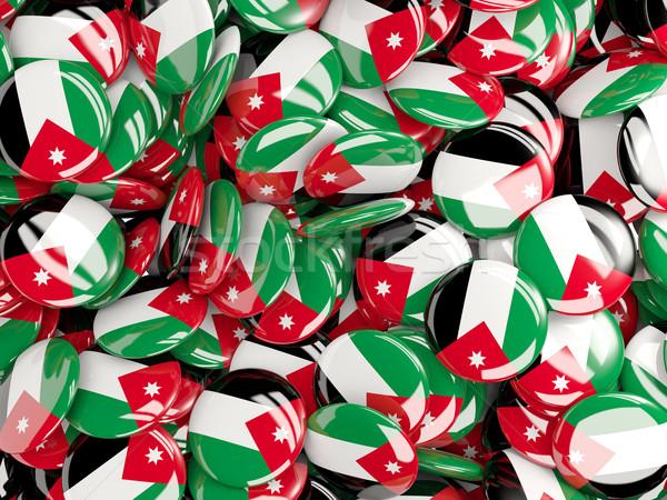 Vlag Jordanië achtergrond land pin cirkel Stockfoto © MikhailMishchenko