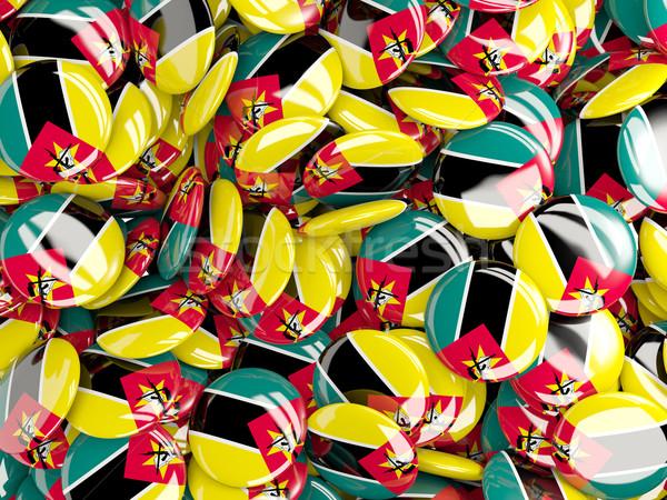флаг Мозамбик фон стране Pin круга Сток-фото © MikhailMishchenko