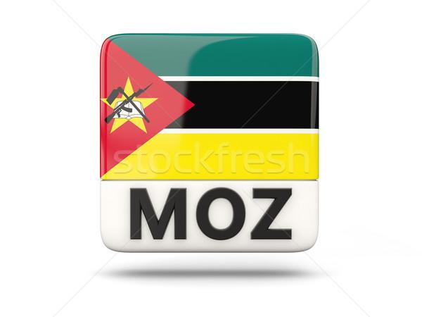 Piazza icona bandiera Mozambico iso codice Foto d'archivio © MikhailMishchenko