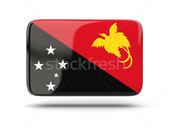 квадратный икона флаг Папуа-Новая Гвинея тень знак Сток-фото © MikhailMishchenko